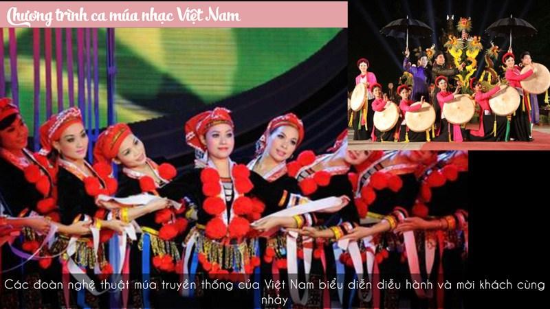 Tiết mục biểu diễn của Việt Nam